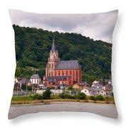 Church Of Our Lady  Oberwesel Am Rhein Throw Pillow