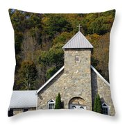 Church Of Rock Throw Pillow