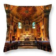 Church Of Saint Agnes Throw Pillow
