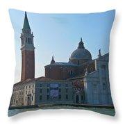 Church Of San Giorgio Maggiore Throw Pillow