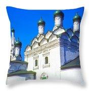 Church Of Simeon Stolpnik Throw Pillow