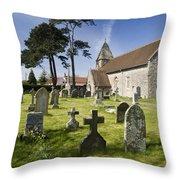 Church Of St John The Evangelist - Kenn - North Somerset Throw Pillow