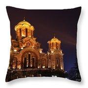 Church Of Sveti Marko Throw Pillow