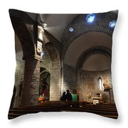 Church Of The Assumption Of Mary In Bossost Throw Pillow