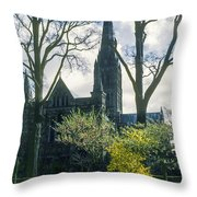 Church Of The Blessed Mary Throw Pillow