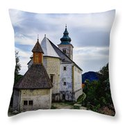 Church Of The Mother Of God Throw Pillow