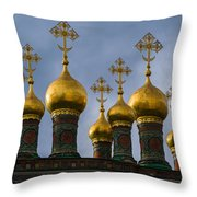 Church Of The Nativity Of Moscow Kremlin - Square Throw Pillow