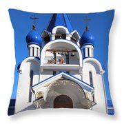 Church Of The Nativity Of The Blessed Virgin Throw Pillow