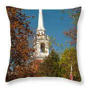 Church Of The Redeemer  From The Lexington Battlefield Throw Pillow