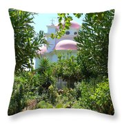 Church Of The Seven Apostles In Capernaum Israel Throw Pillow