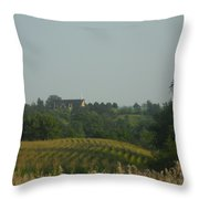 Church On A Hill Throw Pillow