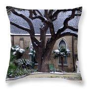 Church On Rosedale With A Dusting Of Snow Throw Pillow