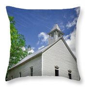 Church On The Hill Throw Pillow