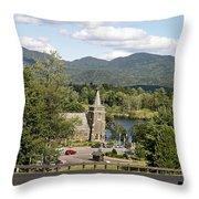 Church On The Lake Throw Pillow