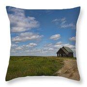 Church On The Plains Throw Pillow