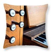 Church Organ Keyboard Throw Pillow