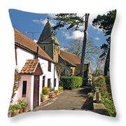 Church Path - Kenn - Somerset Throw Pillow