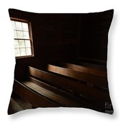 Church Pews Throw Pillow