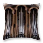 Church Pipes Throw Pillow