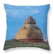 Church Rock On The Road To Moab Throw Pillow