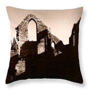 Church Ruins Throw Pillow