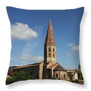 Church Saint Marcel - Cluny Throw Pillow