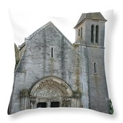 Church St Thibault- Burgundy Throw Pillow