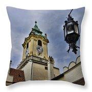 Church Steeple - Bratislava Slovakia Throw Pillow