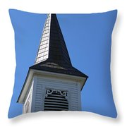 Church Steeple In Buckley Washington Throw Pillow
