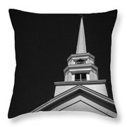 Church Steeple Stowe Vermont Throw Pillow