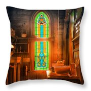 Church Vestibule Throw Pillow