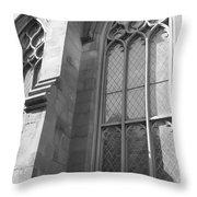 Church Windows And Subway Posts Throw Pillow