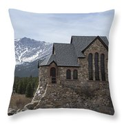 Church With A View Throw Pillow
