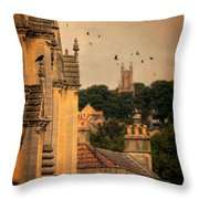 Churches In Town Throw Pillow