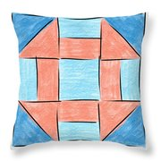 Churn Dash Block Throw Pillow