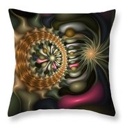 Cicular Logic Overwhelmed Throw Pillow
