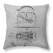 Cider Mill Patent Drawing Throw Pillow