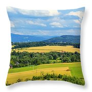 Cieszyn Beskidy Panorama Throw Pillow