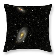 Cigar Galaxy And Bodes Galaxy Throw Pillow