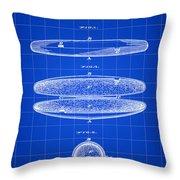 Cigar Holder Patent 1881 - Blue Throw Pillow
