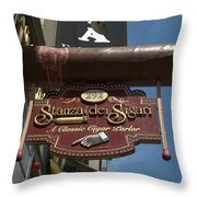 Cigar Parlor Boston Throw Pillow