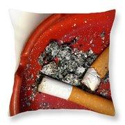 Cigarette Butts Throw Pillow