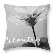 Cilantro Throw Pillow by Linda Woods