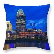 Cincinnati At Sunset Throw Pillow
