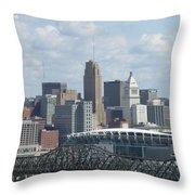 Cincinnati Cityscape Throw Pillow