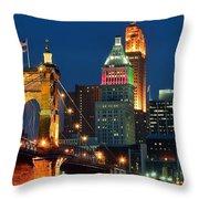 Cincinnati Close Up Throw Pillow
