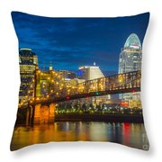 Cincinnati Downtown Throw Pillow