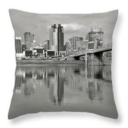 Cincinnati Monochrome Throw Pillow