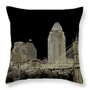 The Queen City Cincinnati Ohio Throw Pillow