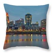 Cincinnati On The Riverfront Throw Pillow